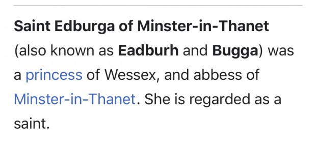 December 12th: Feast Day of St Bugga of Thanet