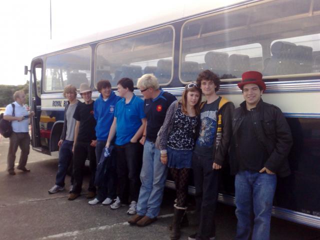 Geoff, Josh, Alex, Oli, Jed, Charlotte, James, Dag & The Royal Blue