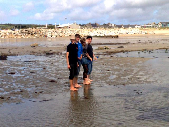 On the beach in Penzance