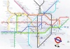 How long it takes to walk between tube stations