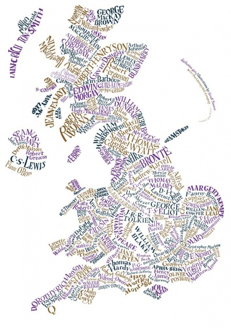 Literary maps: Great Britain & N. Ireland's writers & where they came from