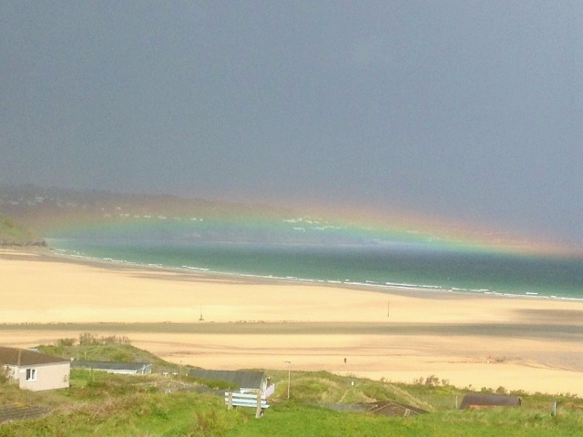 What an amazing sight this morning over St Ives bay, taken from Hayle via @simmo1882